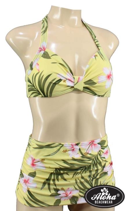 Two Piece Vintage Bikini geblümt floral Hawaiimuster tiki