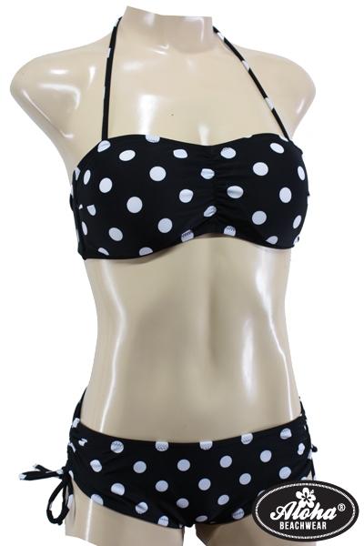 Bandeau Bikini Vintage Polka Dots