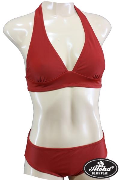 Triangel-Bikini Vintage-Style Rot