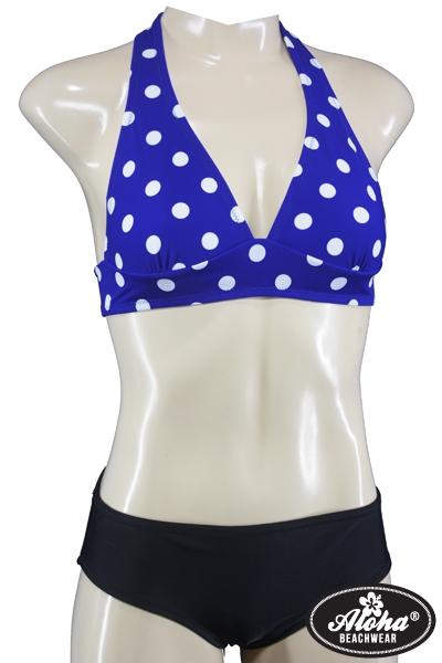 Vintage inspirierter Triangel Polka Dots Bikini