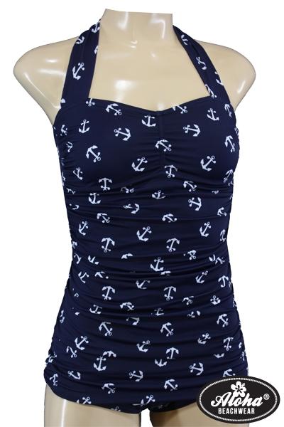 Sailor Bombshell Vintage Anker Badeanzug