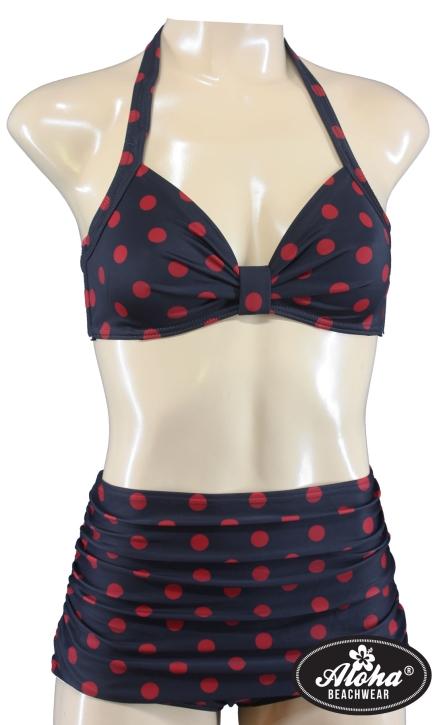 true Vintage Damen Bikini triangel getupft Rockabilly 40er