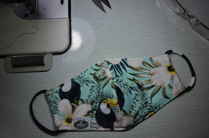 Floral Tukan Blumen Mundschutz DIY-Maske Maske Tiki Behelfsmaske
