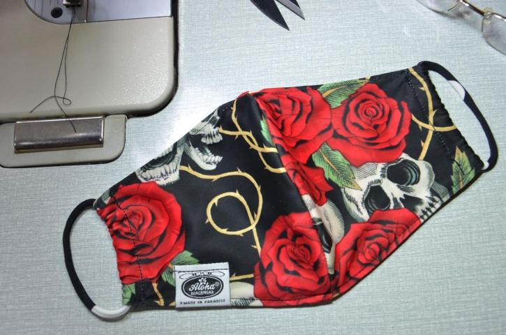 Floral Blumen designer Skull Rose Mundschutz DIY-Maske Maske Behelfsmaske