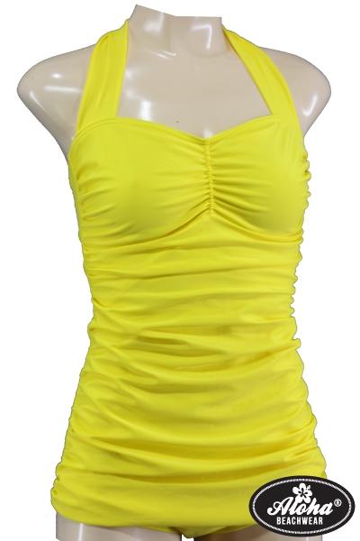 Fifties Vintage Badeanzug in Gelb