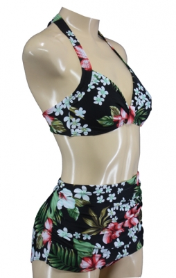 Geblümter Rockabella High Waist Vintage Bikini