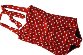 50er Jahre Polka Dots Badeanzug