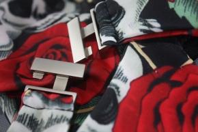 Vintage Damen Bikini Skull Rose Tattoo hochtailliert Bademode
