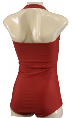 true Vintage Swimsuit halter neck Retro Look red Rot
