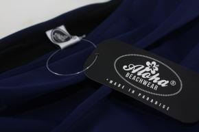 True Vintage Bademode Neckholder Bikini set uni blau 50's