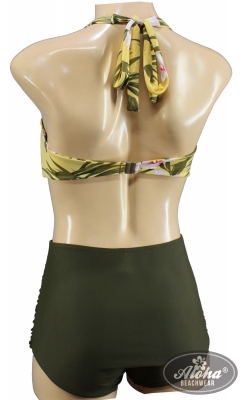 Hibiskus Hawaiimuster Vintage Triangel Bikini Tiki floral