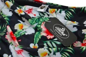 Zweiteiler true Vintage Bikini geblümt Orchidee Hawaiimuster tiki S / 36 / UK 10