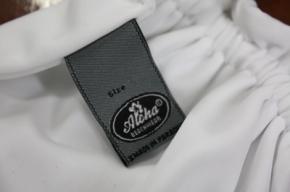 Neckholder Bikini in Weiss mit Ringapplikationen