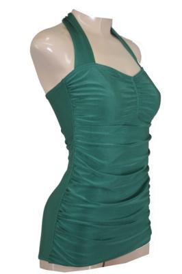 50er Jahre Vintage Badeanzug Mod Schimmer Grün