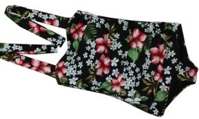Rockabella Vintage Badeanzug mit Hibiskus Floral Print