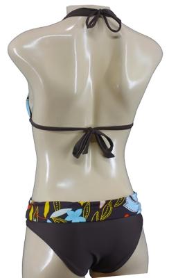 Neckholder Triangel Bikini Set geblümt Flower Bademode